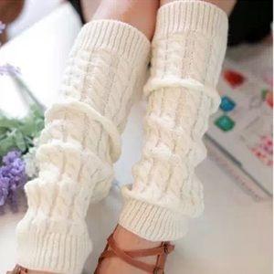 Xhilaration Cream Knit Leg Warmers